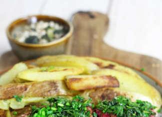 Bistecca vegan di fagioli alle erbe