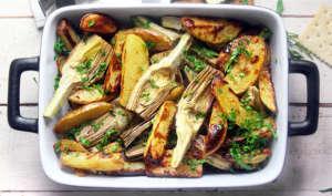 Teglia di patate e carciofi