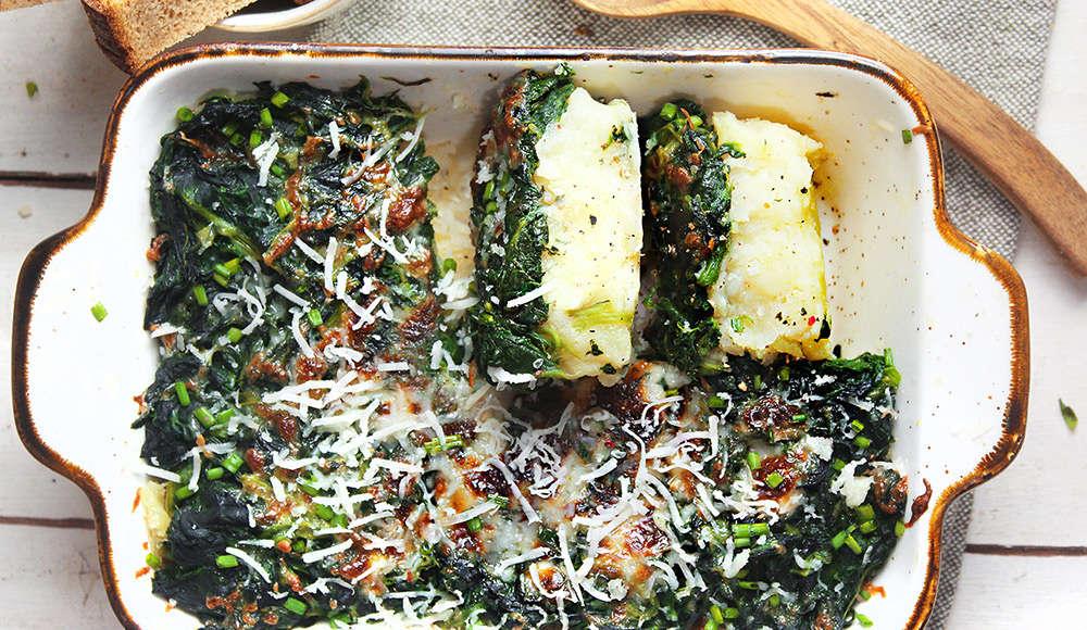 Sformato patate spinaci