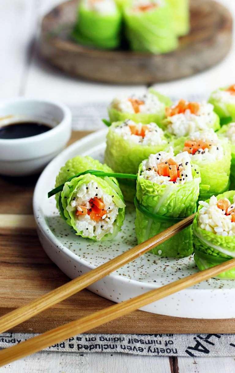 sushi di verza e riso