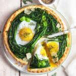 Torta salata agretti uova