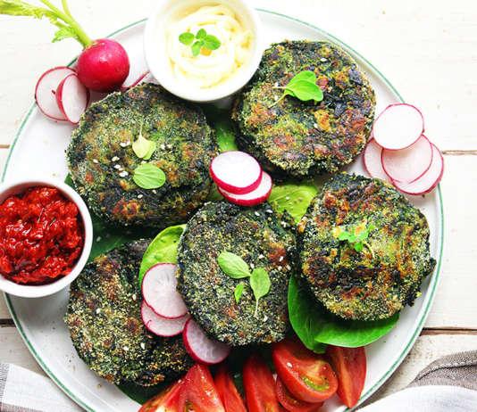 Burger vegetariani di spinaci