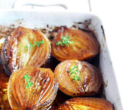 Cipolle glassate al forno