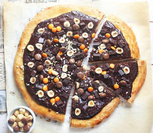 pizza al cioccolato
