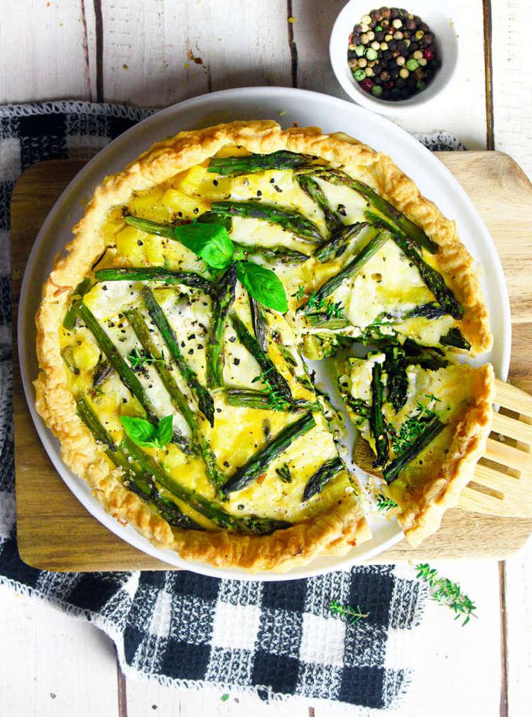 Quiche asparagi e patate