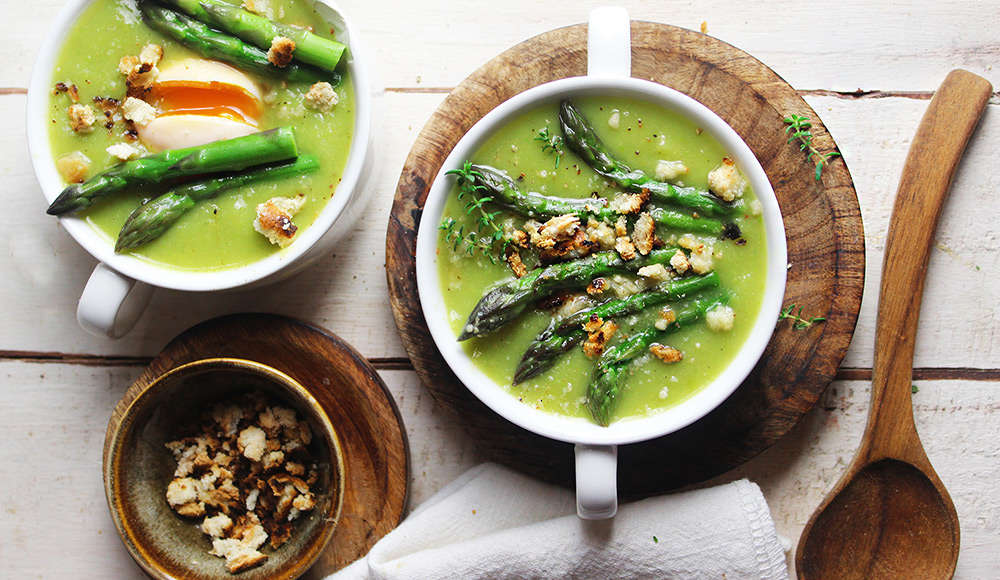Vellutata asparagi vegan