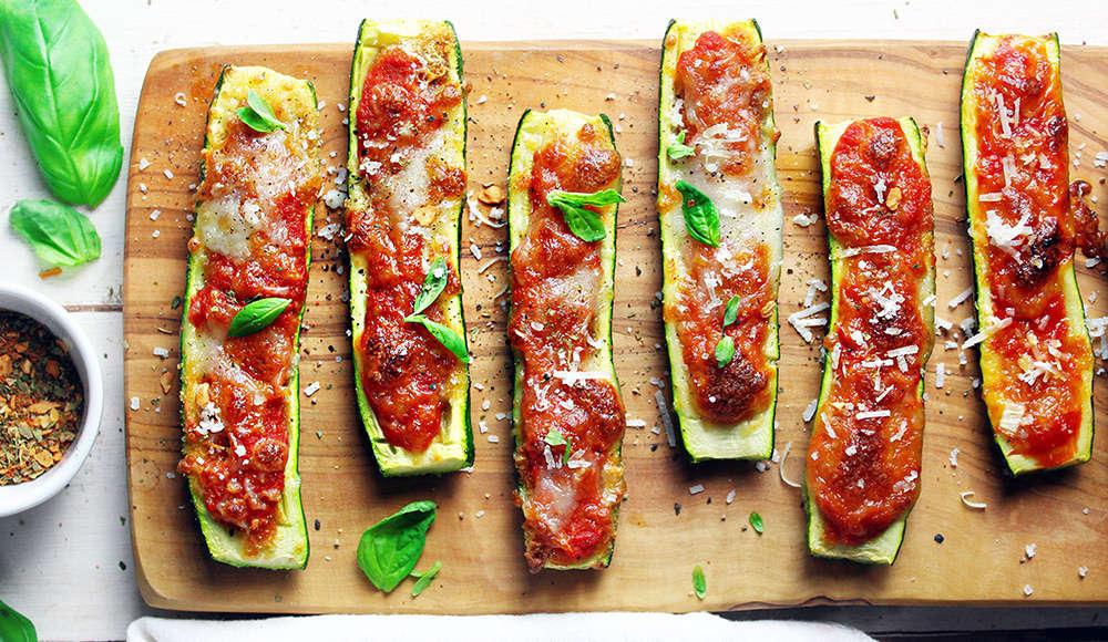 Barchette di zucchine alla pizzaiola