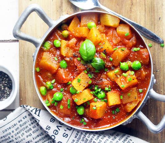 Curry di patate e piselli