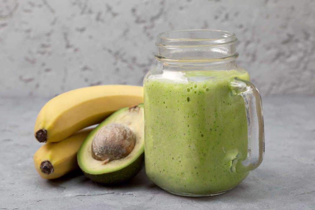frullato di banana e avocado