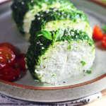 Mozzarella in crosta di erbe