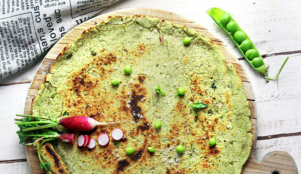 Pane indiano con piselli