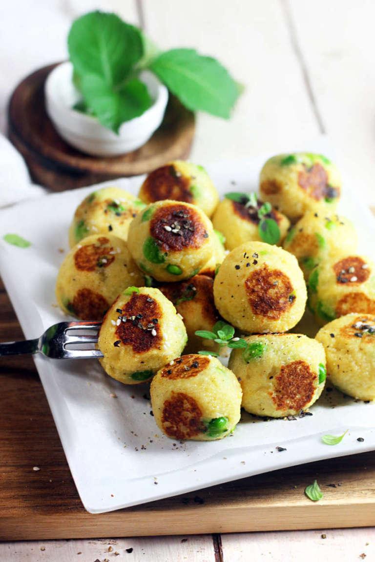 Polpette vegan di patate e piselli