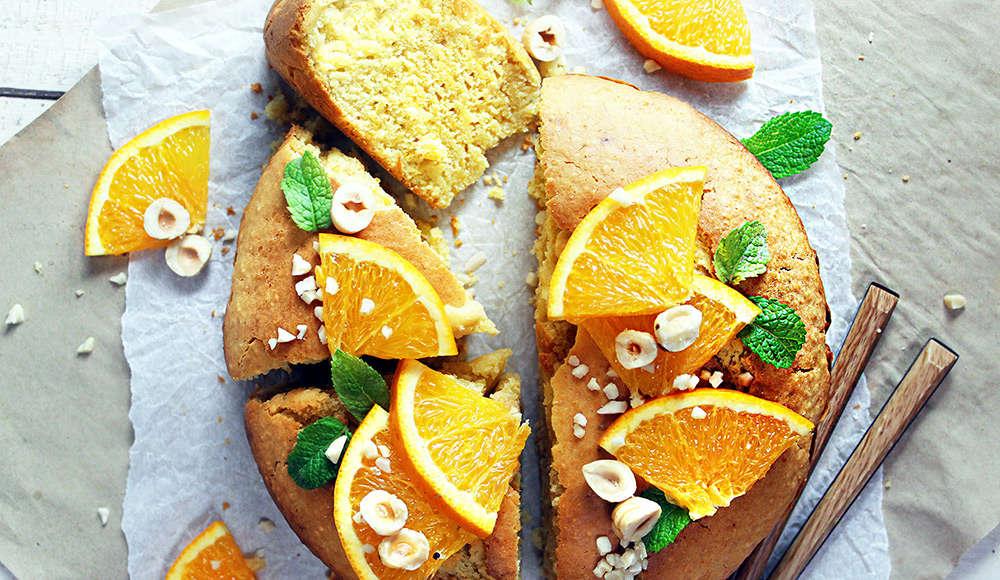 Torta arance e nocciole
