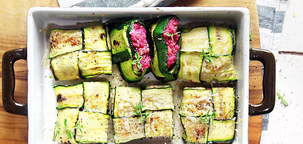 Fagottini vegan di zucchine