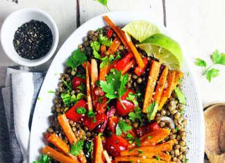 Lenticchie con verdure arrosto