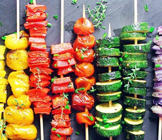 Spiedini di verdura estiva