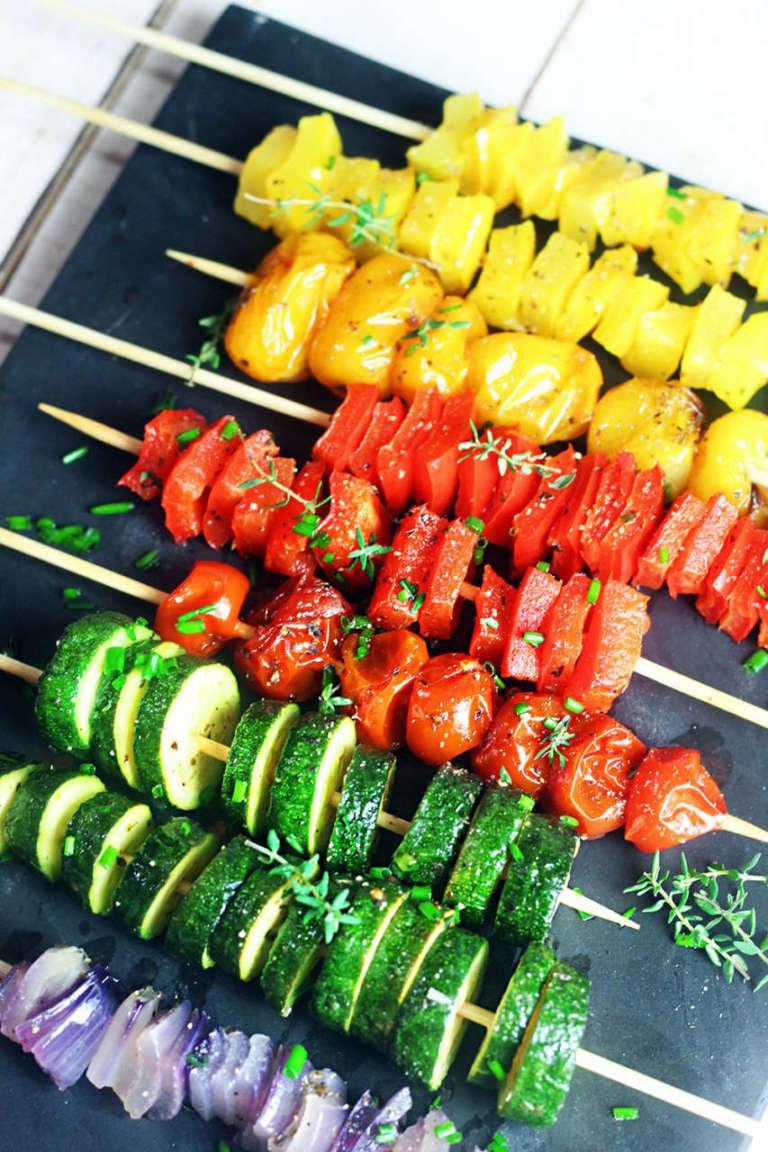 Spiedini di verdura estivi
