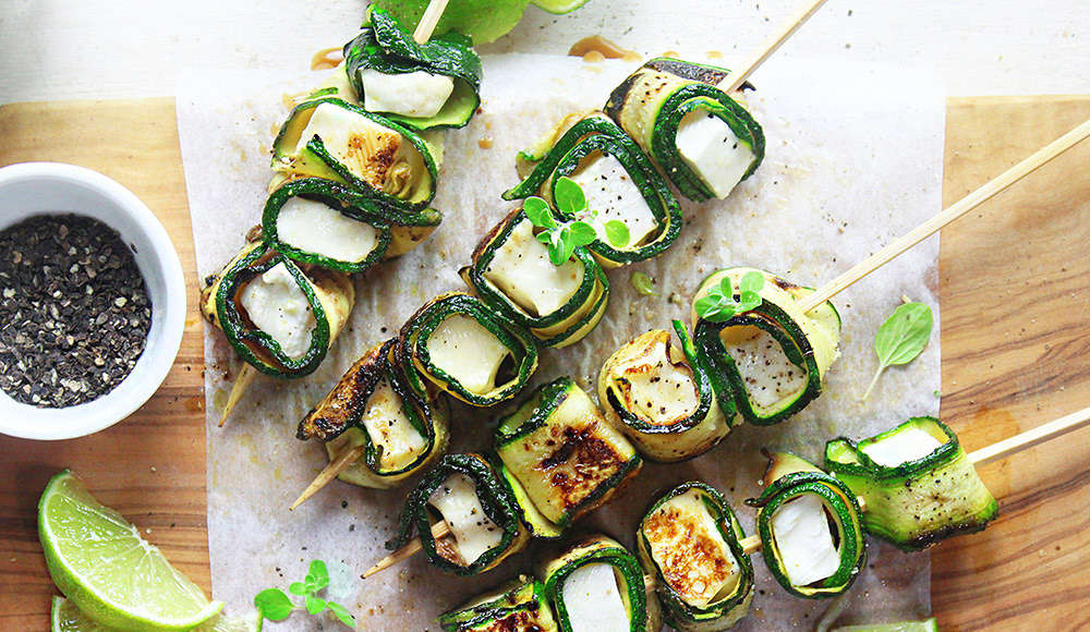Spiedini di zucchine e primosale