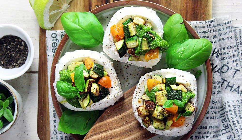 Mozzarelle ripiene di zucchine