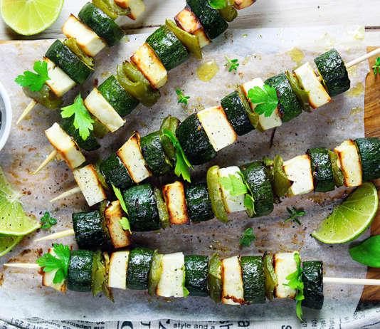 Spiedini zucchine e feta