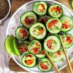 Sushi di cetriolo, vegan e veloce