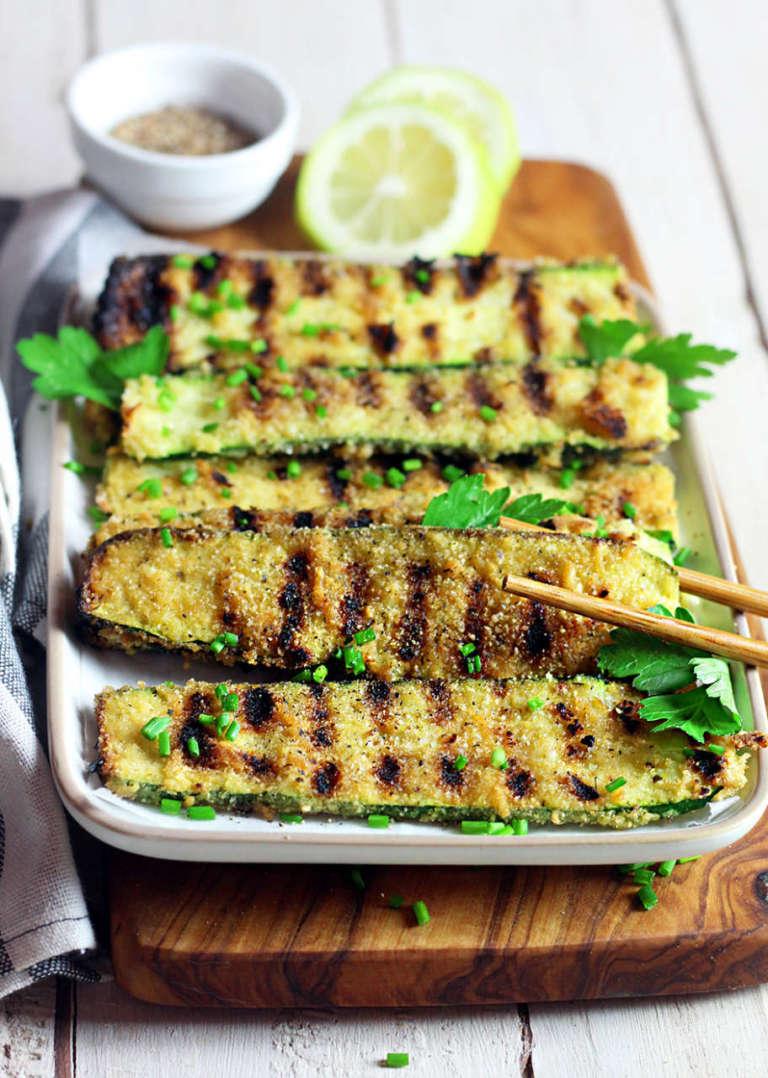 Zucchine impanate grigliate
