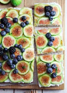 Cheesecake di fichi con ingredienti naturali
