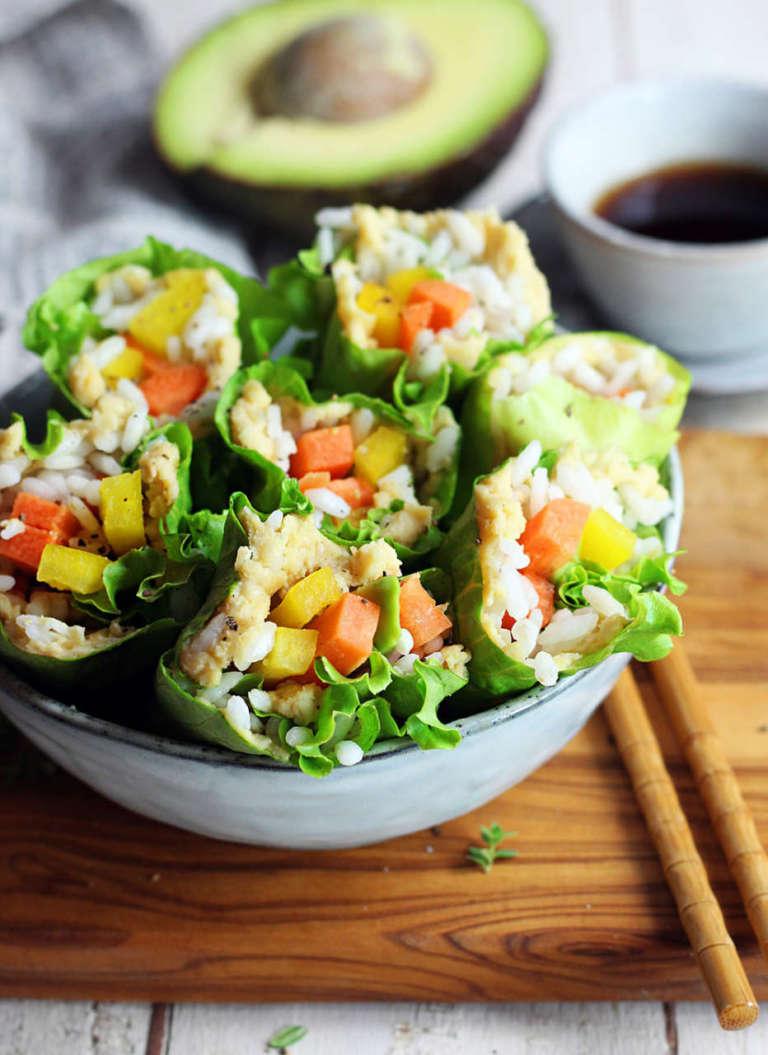 Involtini di insalata