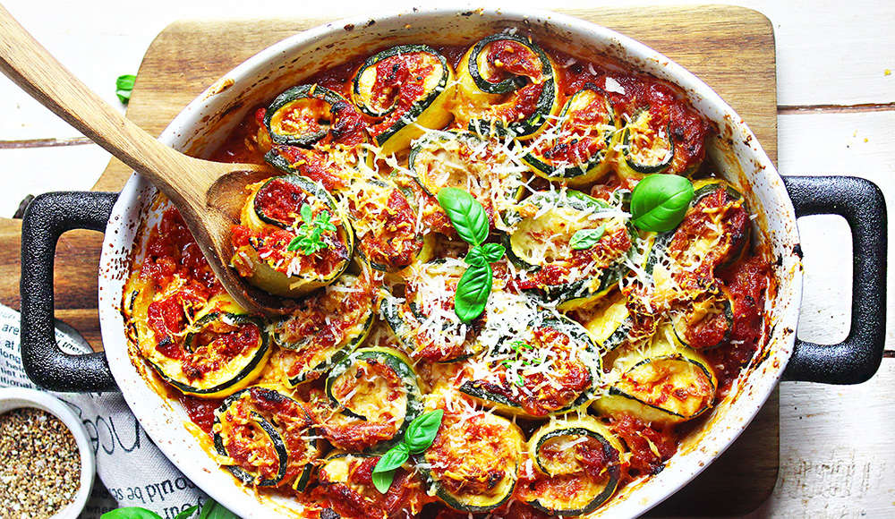 Rolls di zucchine al forno