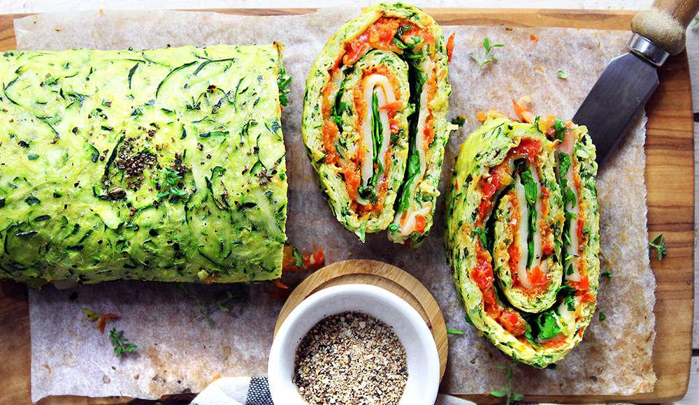 Rotolo di zucchine senza glutine