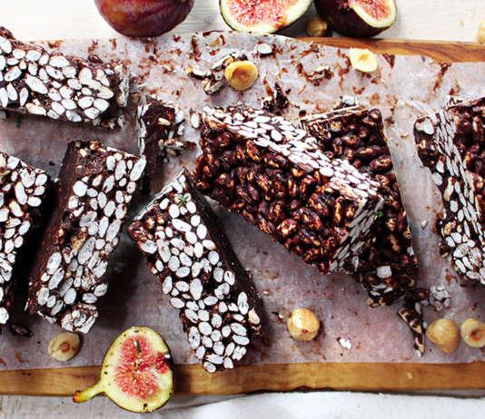 Barrette vegan senza glutine al cioccolato