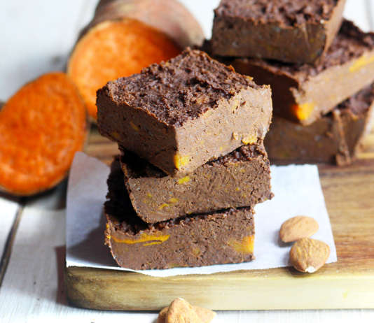 Brownies di patate dolci