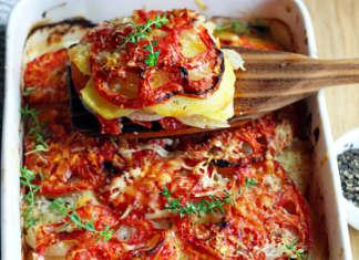Tiella di patate e pomodori