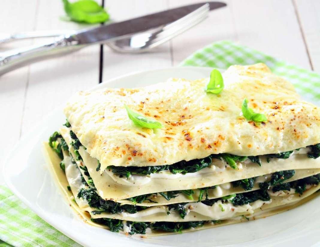 lasagne pronte agli spinaci