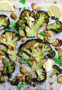 Broccoli arrosto alle mandorle