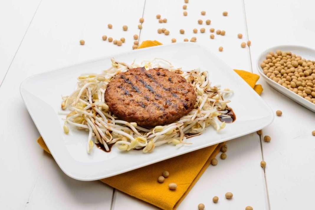 Burger veg con germogli di soia