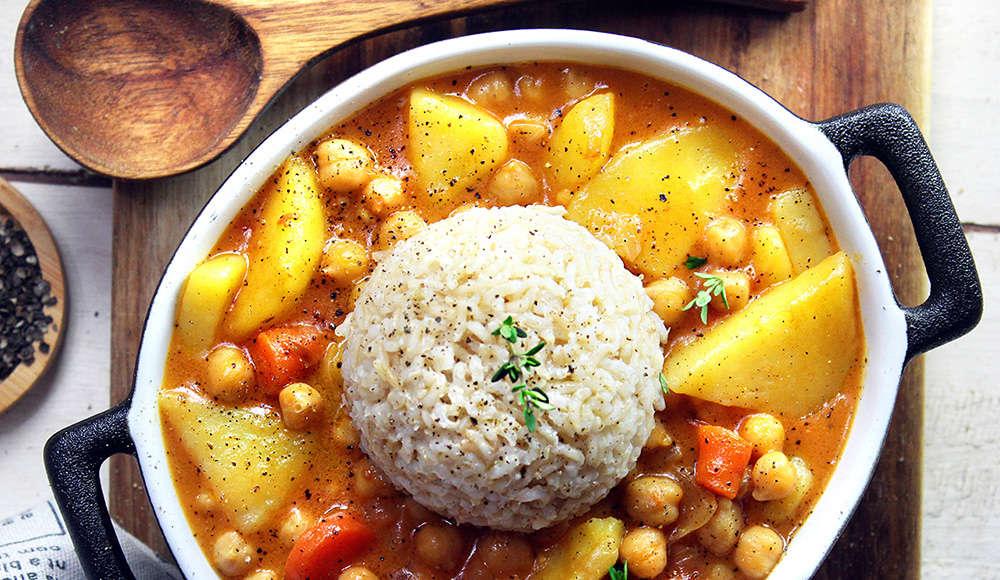 Curry cremoso vegan di ceci