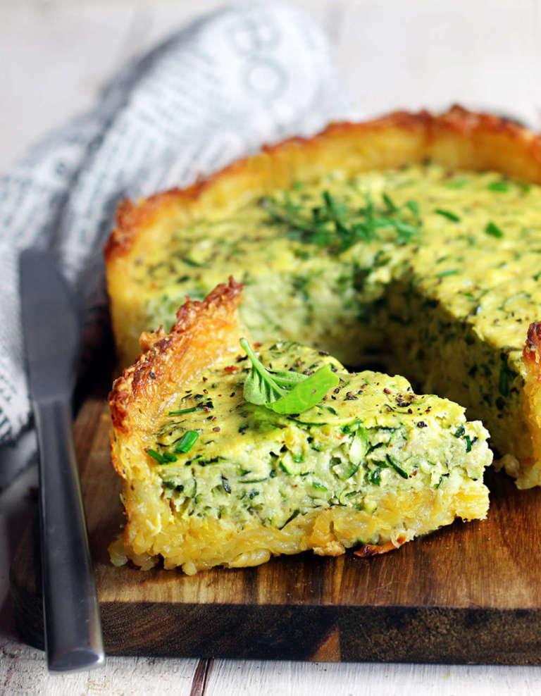Torta di zucchine in crosta di patate