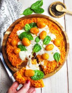 Tortilla di carote senza glutine