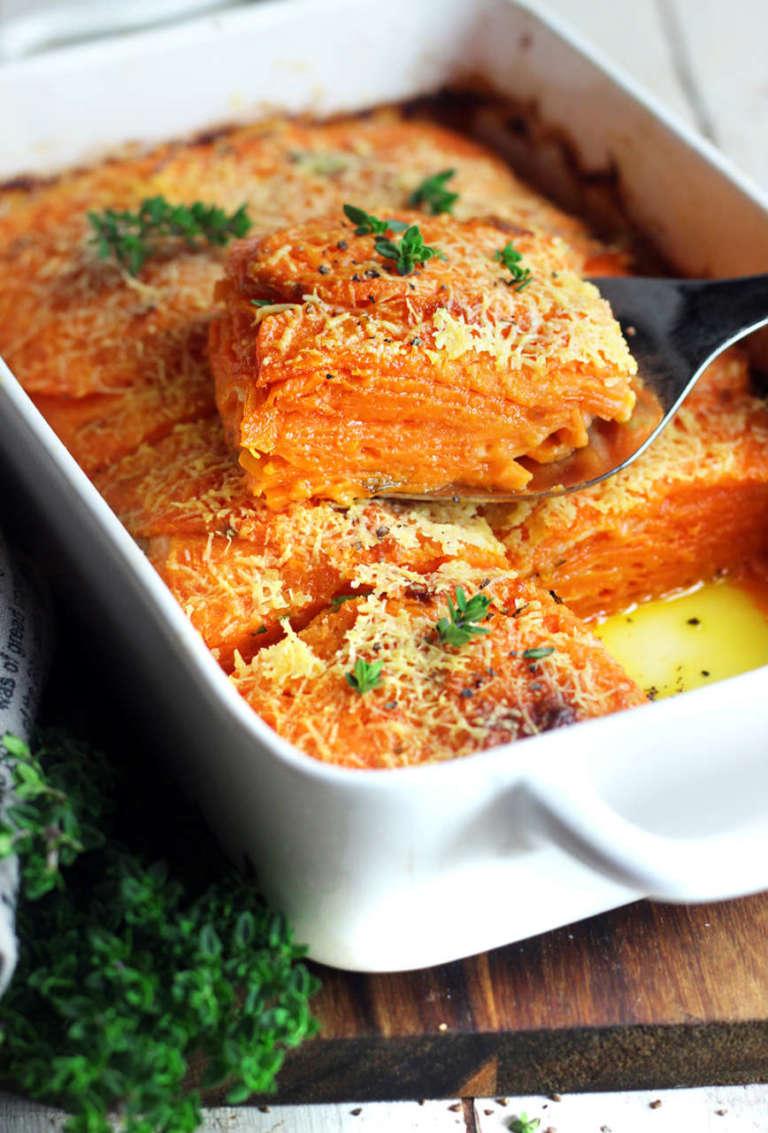 Tortino di patate dolci