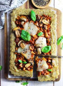Pizza polenta vegan senza glutine