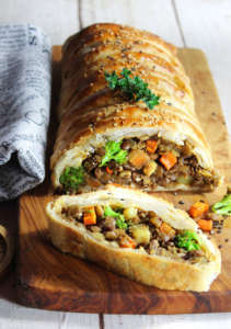 Strudel con lenticchie