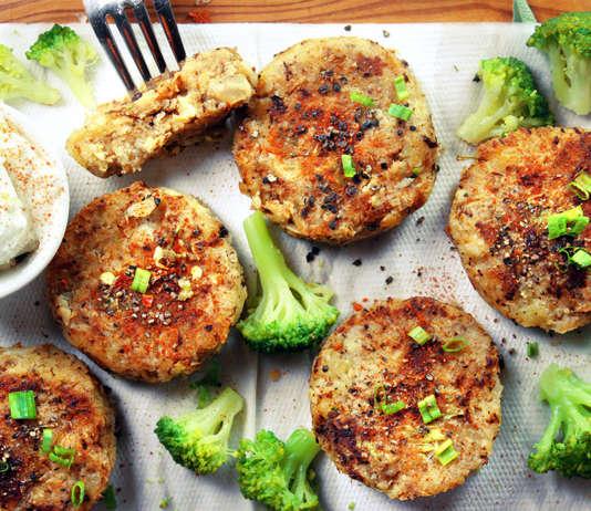 Tortini semplici di cavolfiore e patate
