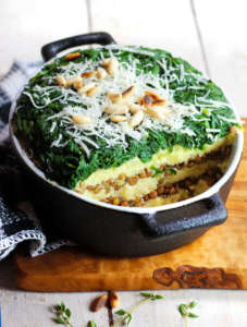 Tortino patate lenticchie spinaci