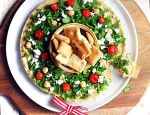 Hummus Ghirlanda di Natale