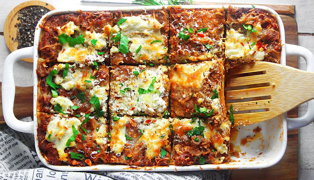 Lasagne ricche vegan