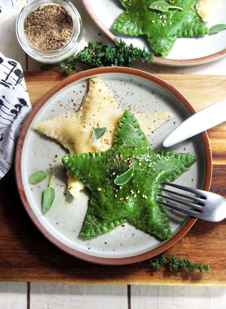 Ravioli di spinaci vegan