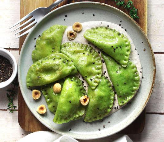 Ravioli con broccoli