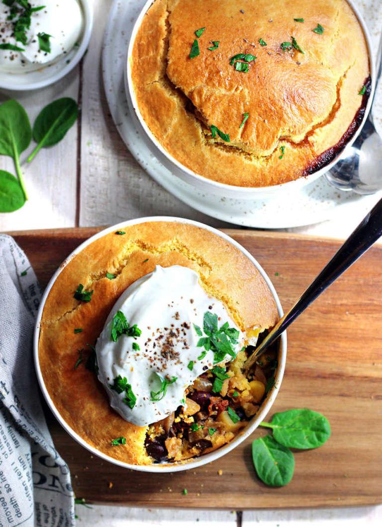 Torta di verdure bowl