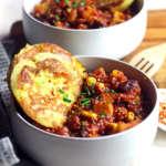 Chili vegan con quinoa